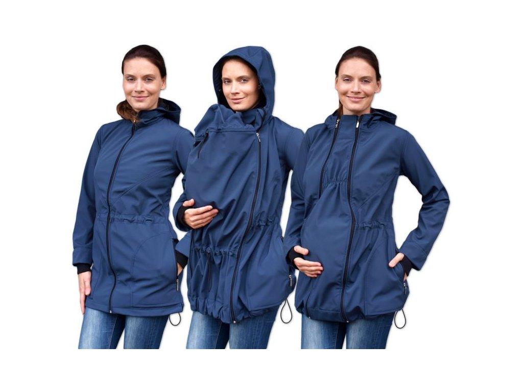 pavla 2 softshellova tehotenska a nosici bundy pro predni noseni tm modra s m