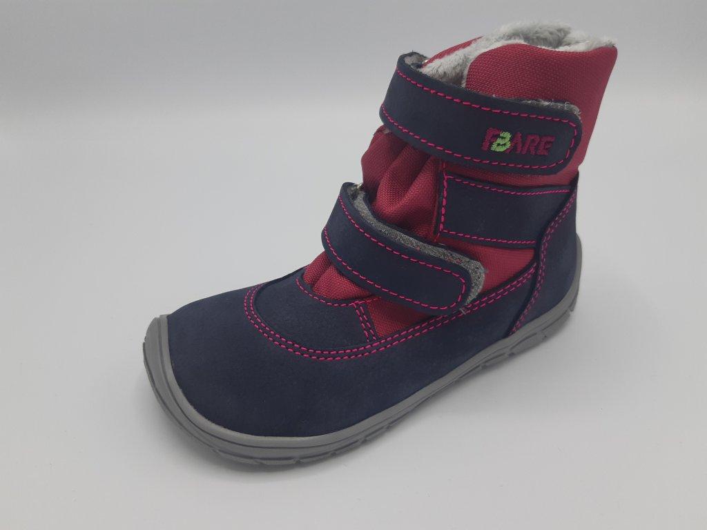 Fare Bare barefoot zimní boty vyšší s membránou růžové A5141291