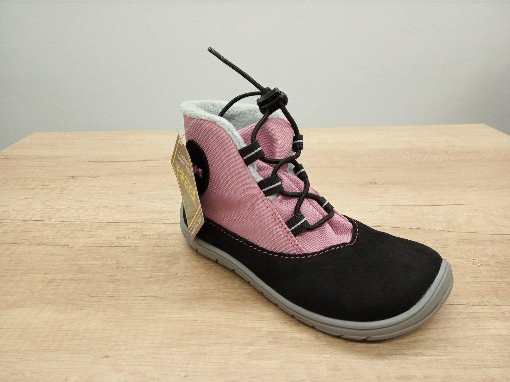 Fare Bare barefoot zimní boty s membránou růžové 5143251