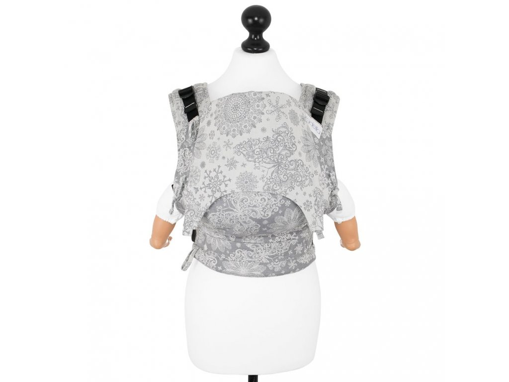 babysize fidella fusion babycarrier with buckles iced butterfly smoke
