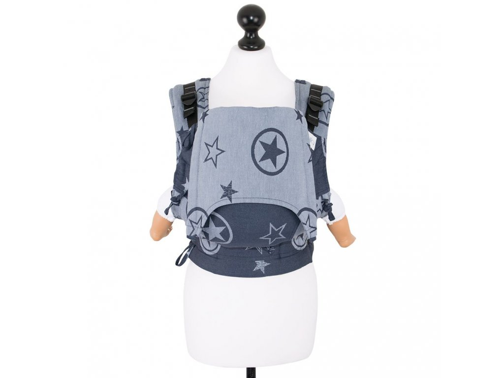 babysize fidella fusion baby carrier with buckles outer space blue