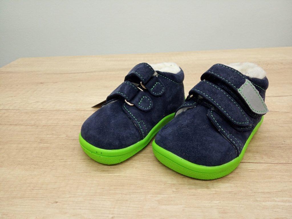 Beda zimní  nízká barefoot obuv Marcus s membránou a kožíškem na suchý zip 0001/WMK/40010