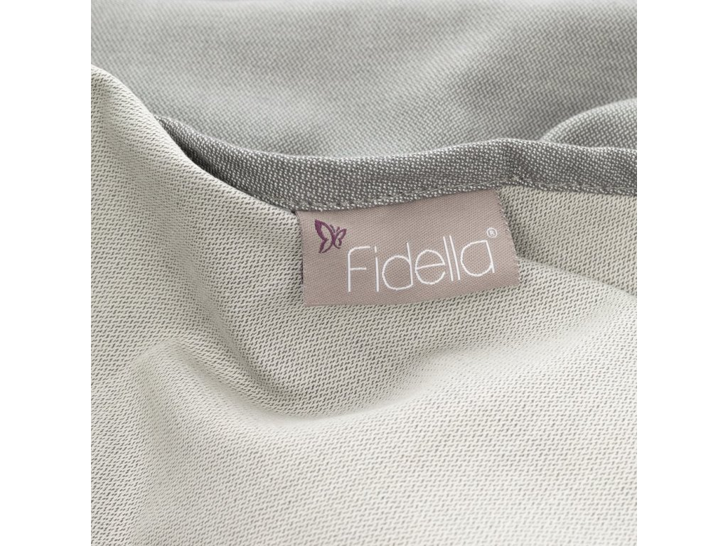 Šátek Fidella - Chevron Light Gray