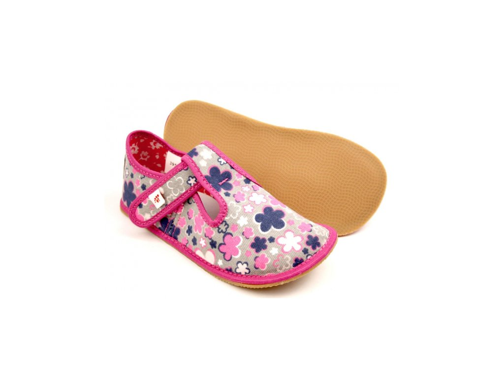 EF barefoot přezůvky Kwiaty Fluo 395