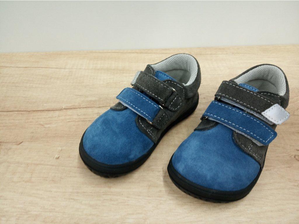 Jonap celoroční barefoot obuv B1/SV šedo modrá
