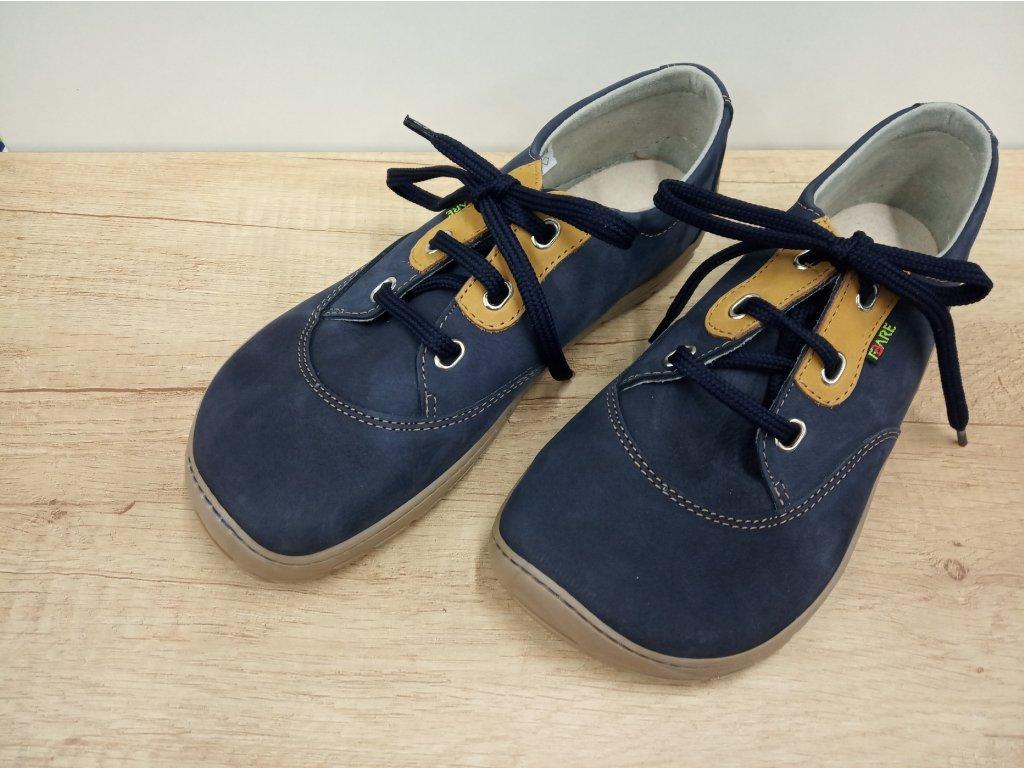 FARE BARE unisex nízké celoroční barefoot boty modré A5311201
