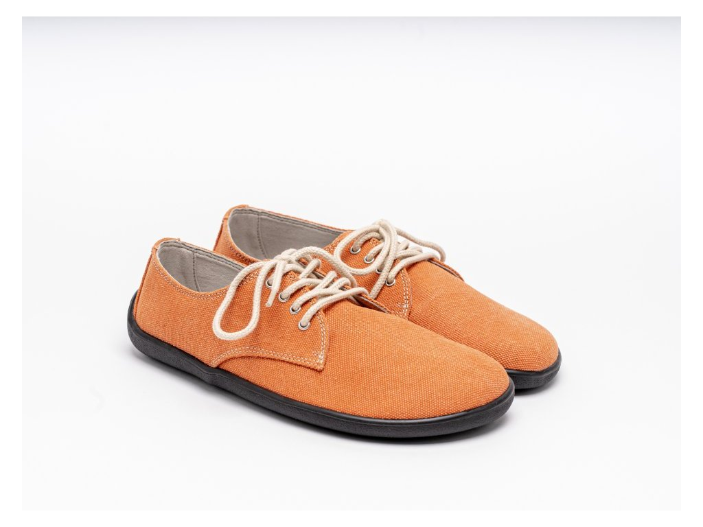 Be Lenka celoroční barefoot obuv City Tangerine VEGAN
