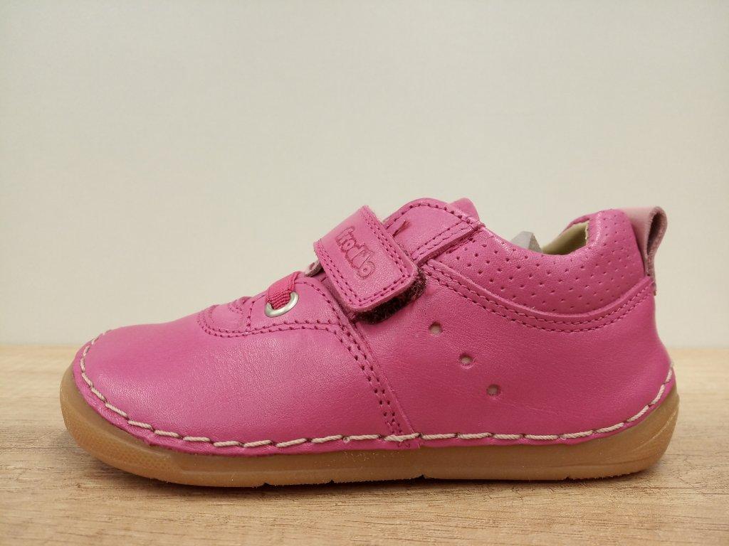 Froddo celoroční barefoot obuv - Flexible Sneakers Fuchsia s tkaničkami G2130189-5