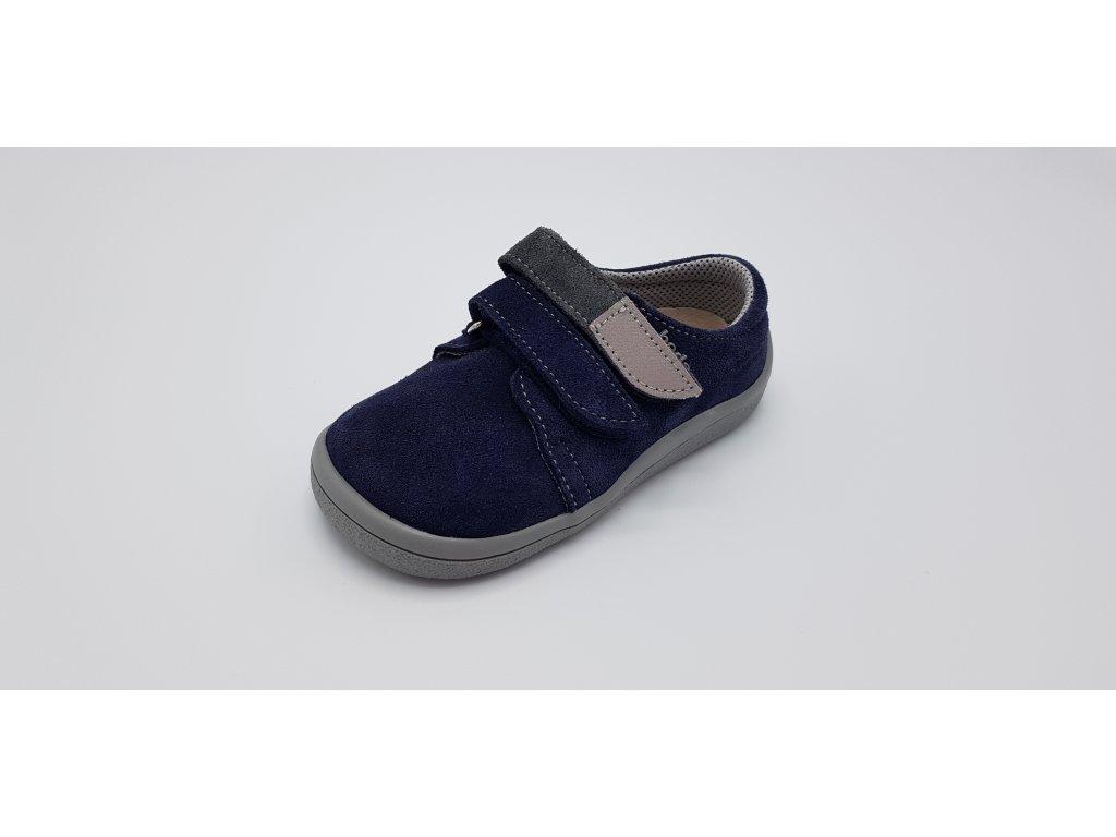 Beda celoroční  barefoot obuv Lucas nízký na suchý zip BF 0001/WN/100006