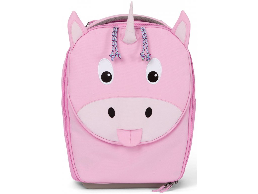 Affenzahn Dětský cestovní kufřík Suitcase Ulrike Unicorn pink (1)