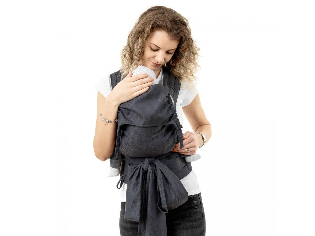ergonomické nosítko fidella fusion v2 fullbuckle baby carrier diamonds anthracite toddler