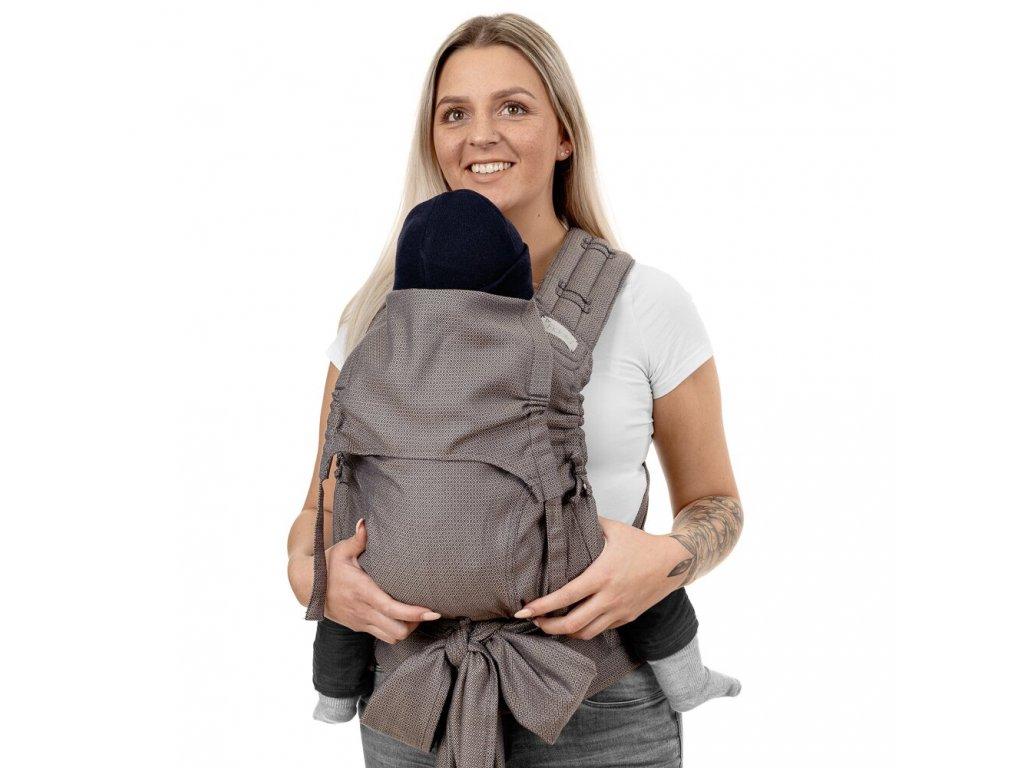 Ergonomické nosítko fidella flyclick plus halfbuckle baby carrier diamonds beige baby