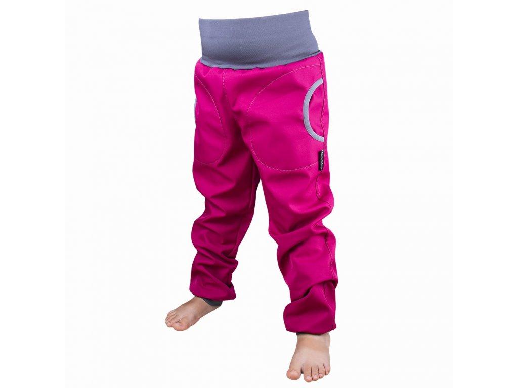 Šijeme srdcem Růžové softshellové kalhoty s fleecem 3417