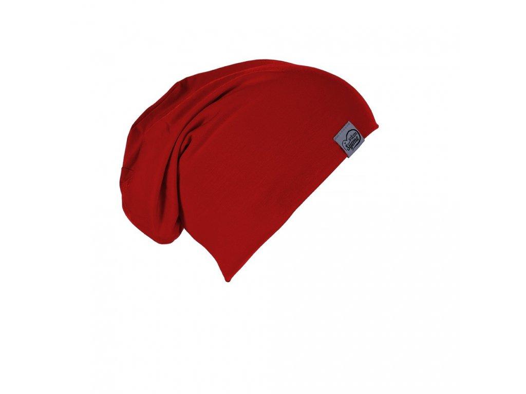 Šijeme srdcem Bambusová červená čepice 0211