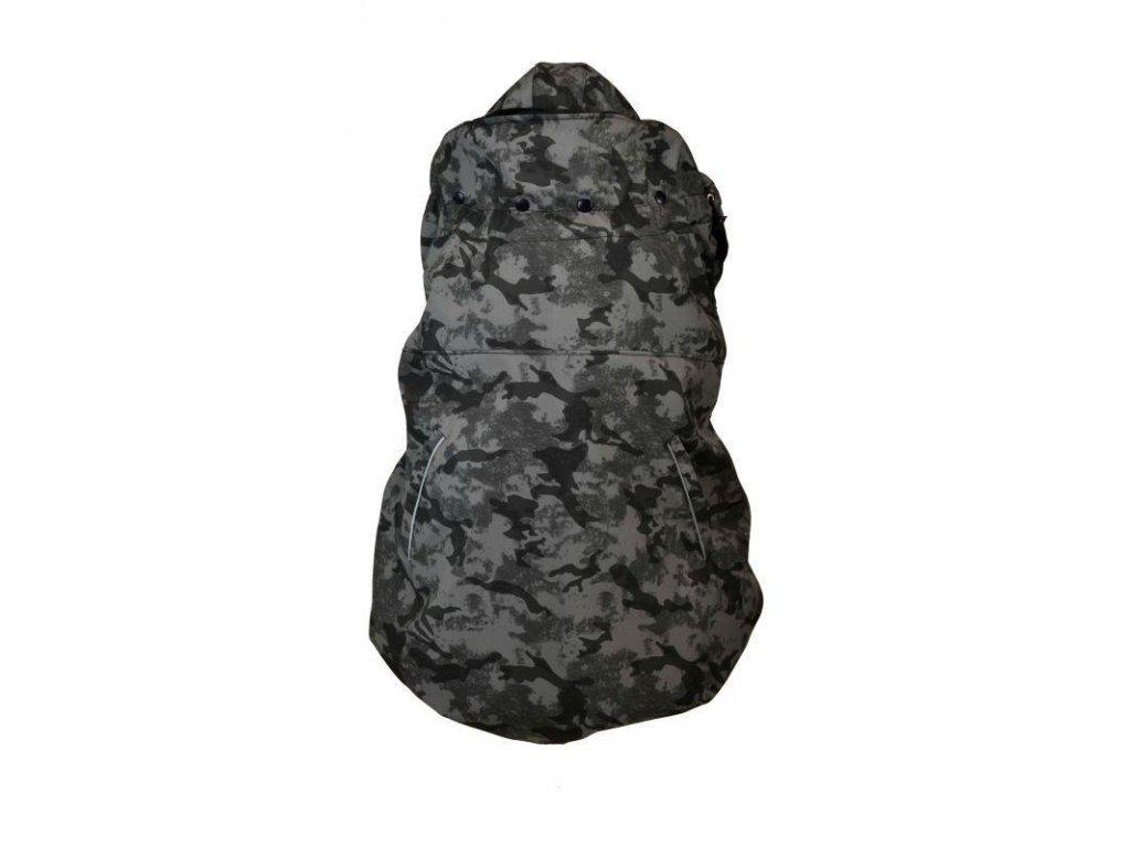 Shara softshellová kapsa jaro podzim maskáčová