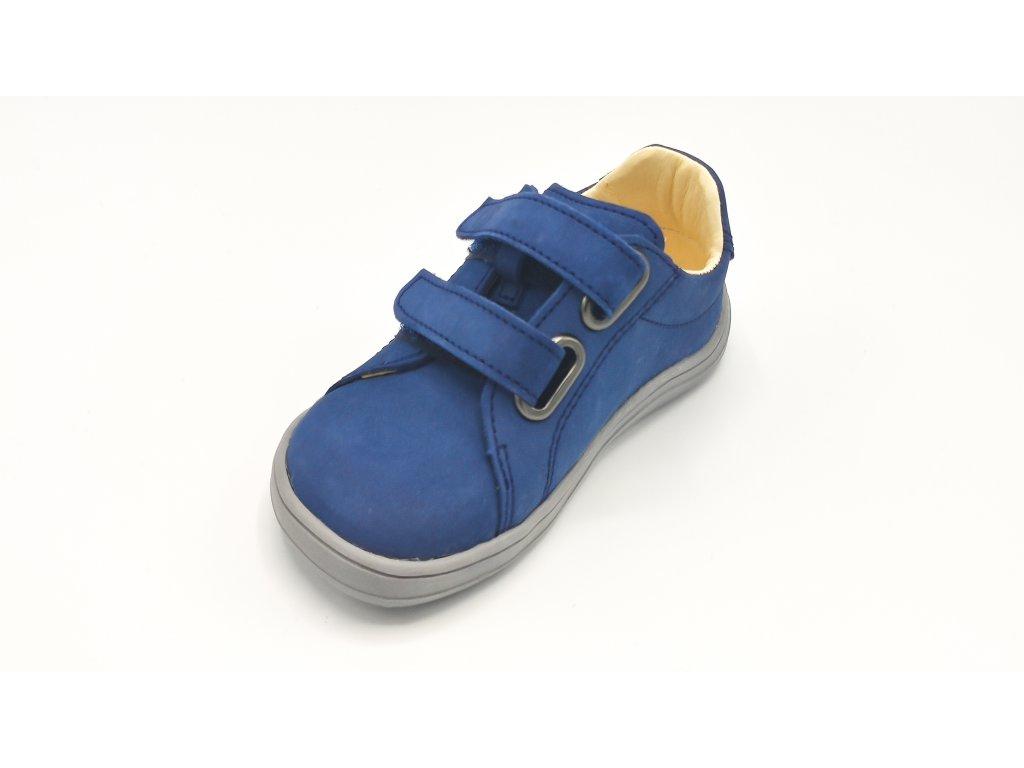 Baby Bare Shoes - barefoot celoroční obuv - Febo Spring - Navy - nubuk