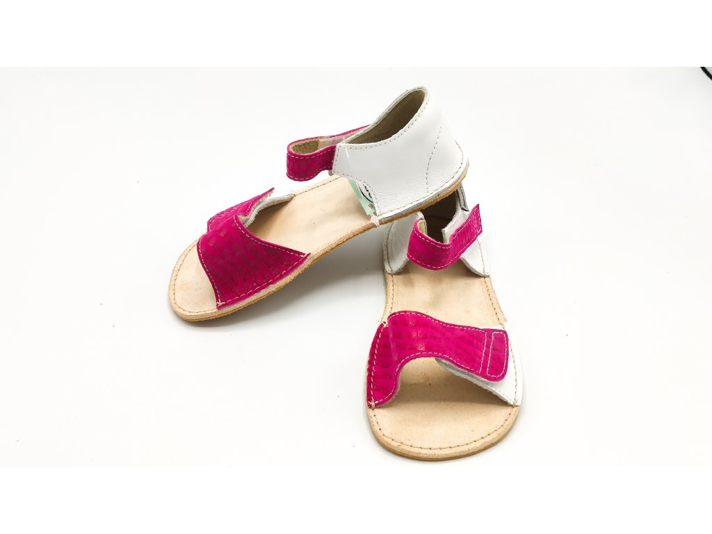 OKbarefoot dětské sandály Mirrisa D2-203/H bílo růžové