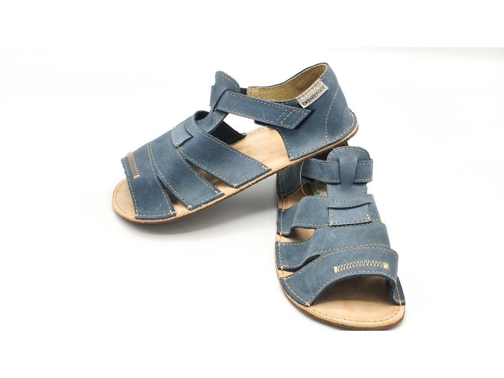 OKbarefoot dětské sandály Maiami D200/H modré
