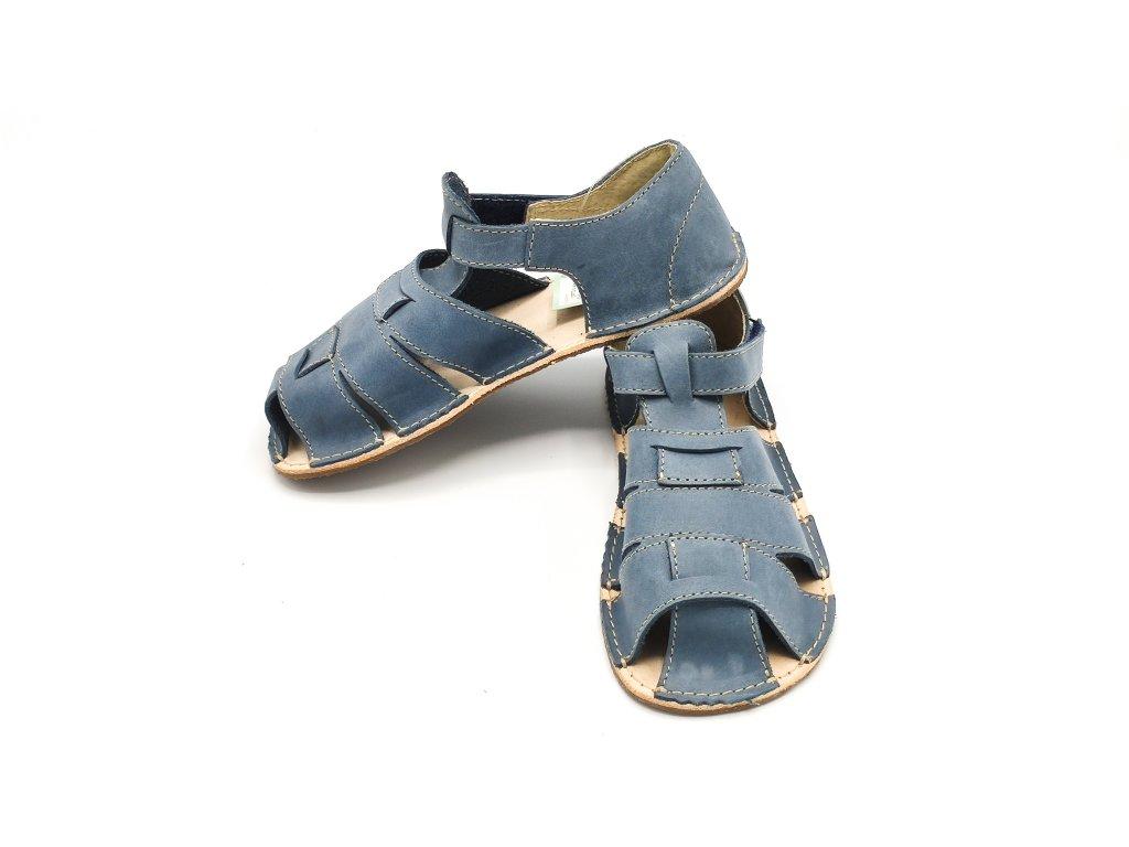 OKbarefoot dětské sandály Palm D201/H modré