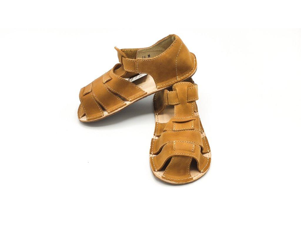 OKbarefoot dětské sandály Palm D201/H hnědé