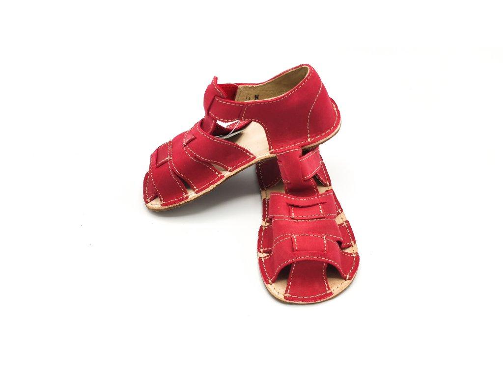Okbarefoot dětské sandály Palm D201/H červené