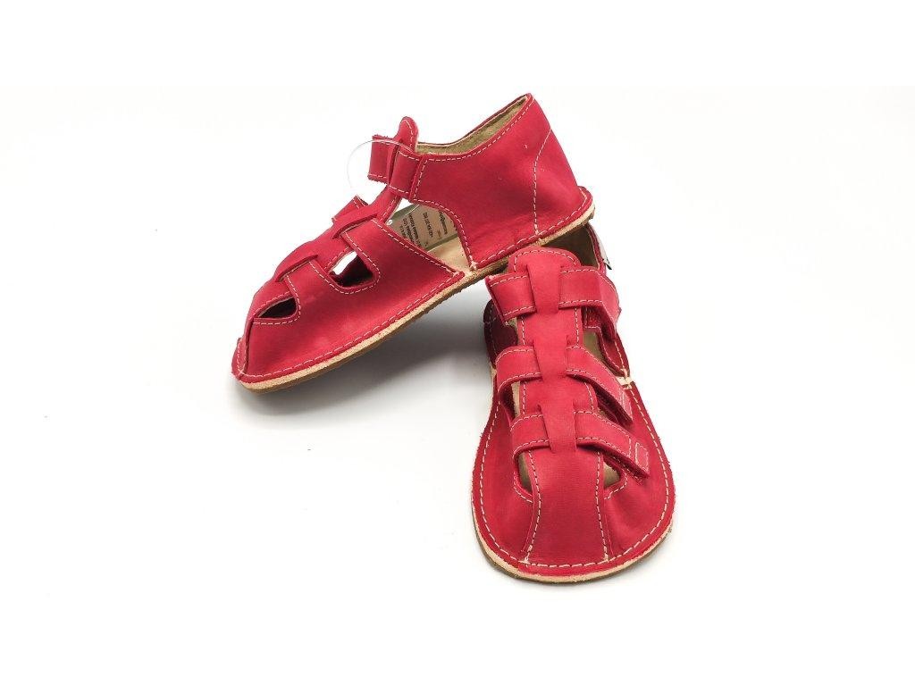 OKbarefoot dětské sandály Maya D202/H červené