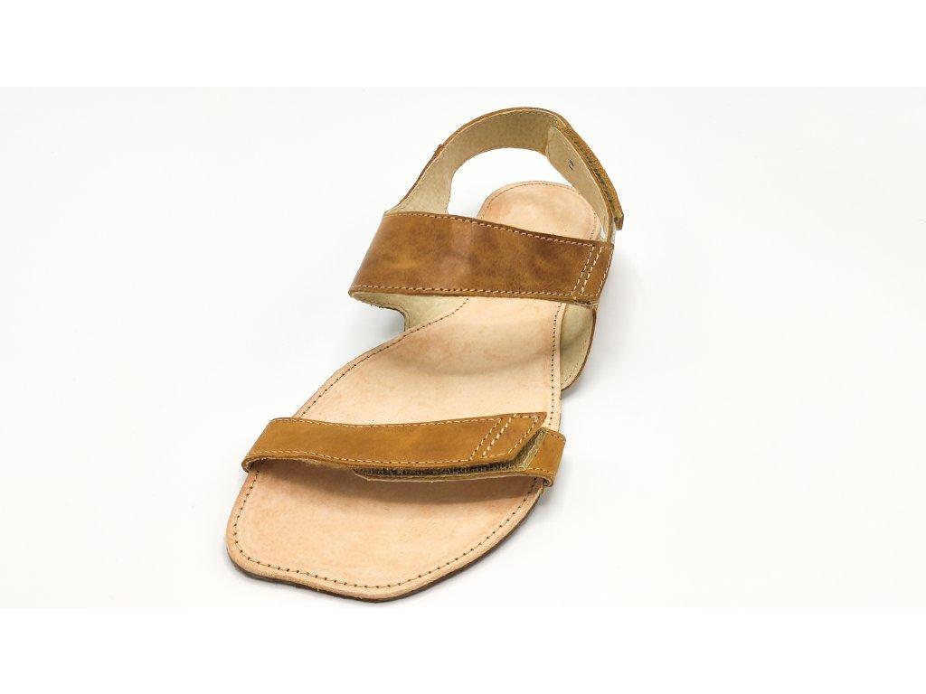 OKBarefoot letní sandály Bora A108 hnědé