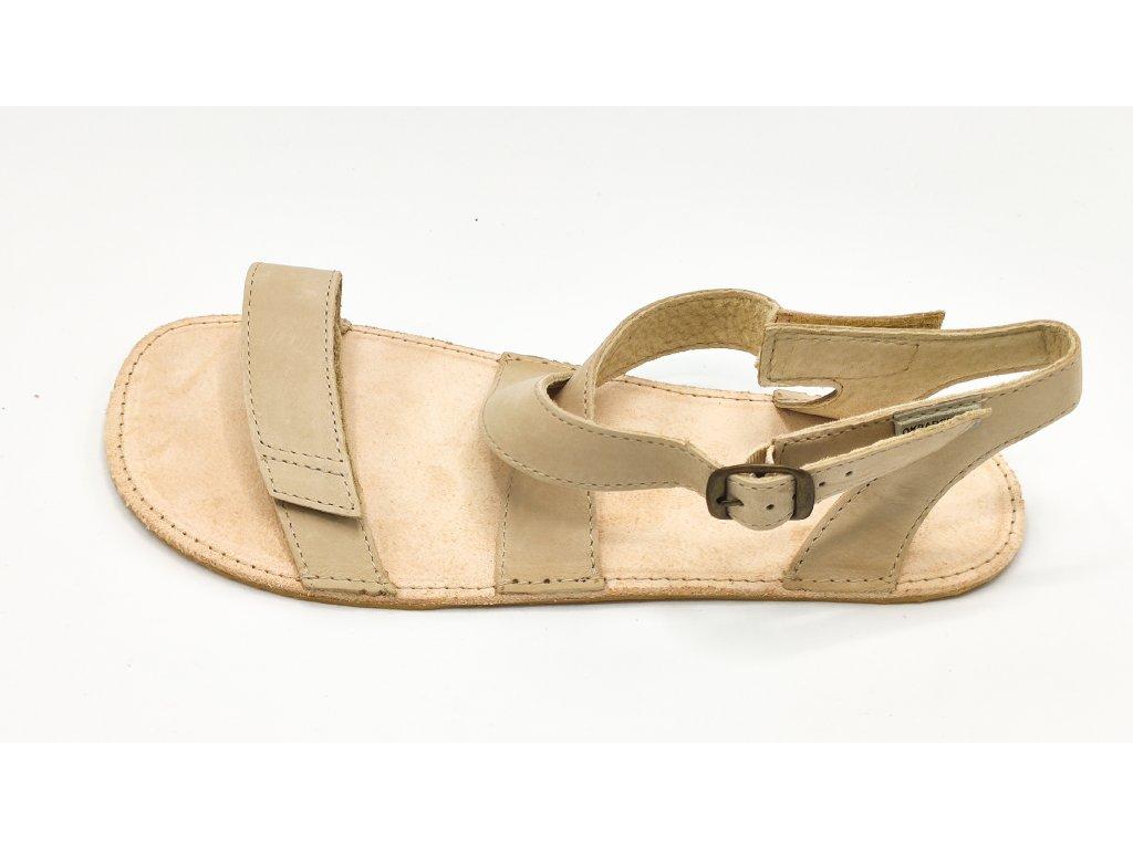 OKBarefoot letní sandály Jami C107 béžové