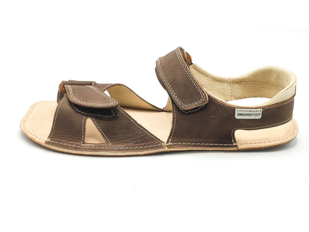 OKBarefoot letní sandály Bounty B32 hnědé