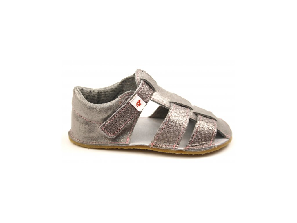 EF Barefoot sandály Grey Silver