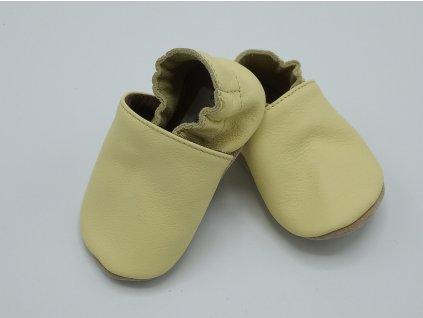 baBice barefoot capáčky Plain Baby Yellow žlutá 138 (2)