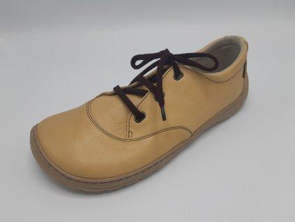 FARE BARE unisex nízké celoroční barefoot boty hnědé 5311281