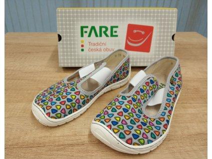 Fare Bare dětské barefoot přezůvky ŠEDÉ TROJÚHELNÍKY na gumičku 5101461