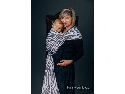 lennylamb zebra graphite white