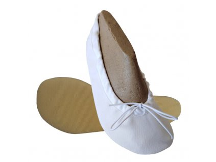 Wins barefoot cvičky na šnůrku bílá TG 01