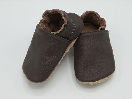 baBice barefoot capáčky Plain Chocolate čokoládová 052 (3)