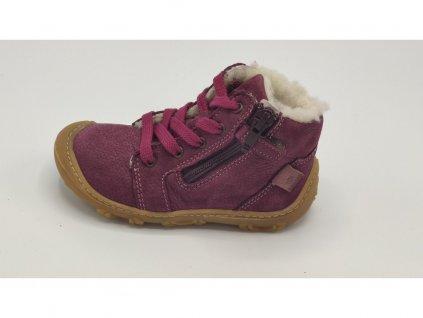 Ricosta barefoot zimní obuv Enno Merlot Weit 15308/382