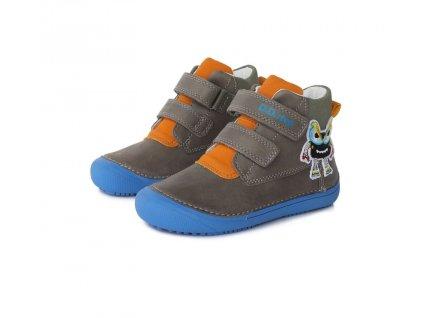 D.D.step celoroční barefoot obuv 063 879 AM Grey 02
