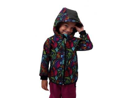 Jožánek dětská softshellová bunda pestrobarevné ulity