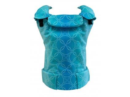 Ergonomické nosítko MoniLu UNI - Aqua včetně slintáčků