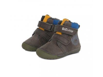 D.D.step zimní barefoot boty 070-518A Dark Grey