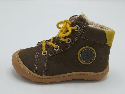 Ricosta barefoot zimní obuv Georgie Army Weit 12234/592