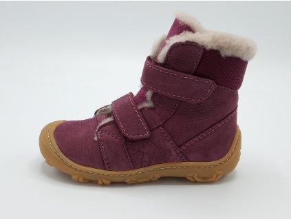 Ricosta barefoot zimní obuv Eli Merlot Weit 15307/382