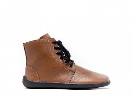 Be Lenka zimní barefoot obuv Nord Caramel