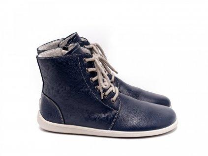 Be Lenka zimní barefoot obuv Nord Navy