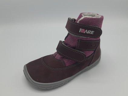 Fare Bare barefoot zimní boty vyšší s membránou růžové B5541291
