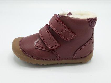 Bundgaard zimní barefoot obuv Petit Mid Winter Plum WS 405