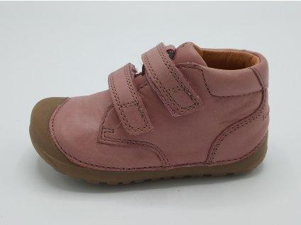 Bundgaard celoroční barefoot obuv Petit Velcro Nostalgia Rose WS 723