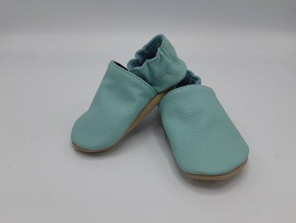 baBice barefoot capáčky Plain Light Mint světle mentolová BA-107
