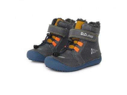 D.D.step zimní barefoot boty 063-465AM Grey